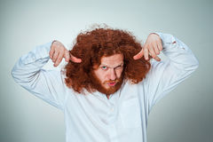 The young vexed man Royalty Free Stock Photos