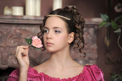 Young Victorian girl Stock Image