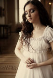 Young victorian lady stock photos