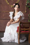 Young victorian lady Stock Images