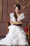 Young victorian lady stock photo