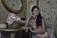 Young victorian lady Royalty Free Stock Photography
