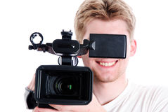 Young video operator stock photography