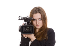 Young video operator Royalty Free Stock Photo