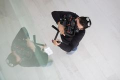 Videographer at work Stock Photography