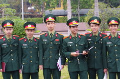 Young Vietnamese cadets Stock Photos