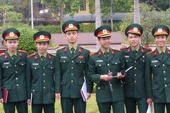 Young Vietnamese cadets Stock Photos