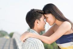 Young Vietnamese couple Stock Photo