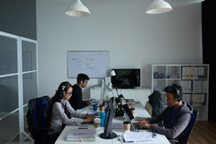 Office of software developers stock image