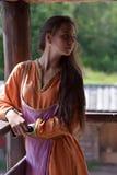 Young vikig girl royalty free stock photo