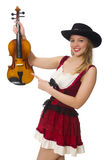 Young violin player isolated Royalty Free Stock Image