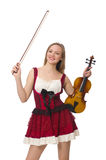 Young violin player Royalty Free Stock Images