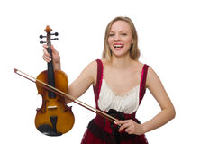 Young violin player Stock Photo