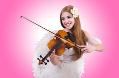 Young violin player  Royalty Free Stock Image