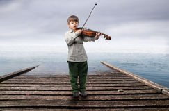 Young violinist royalty free stock photography