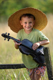 Young violinist Stock Images