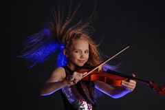 Young violinist Stock Photo