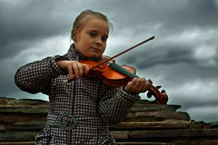 Young violinist Royalty Free Stock Photo