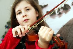 Young violinist. stock photography