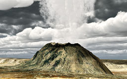 Young volcano. Being born  again Royalty Free Stock Images