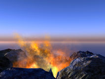 Young volcano being born Stock Image