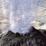 Young volcano being born Stock Photos