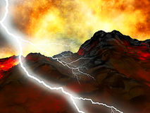 Young volcano being born Stock Photo