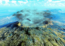 Young volcano being born Royalty Free Stock Images