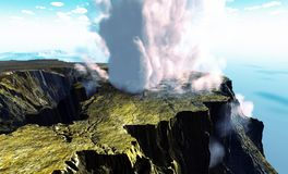 Young volcano being born Royalty Free Stock Image