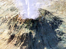 Young volcano  eruption. With smoke Royalty Free Stock Images