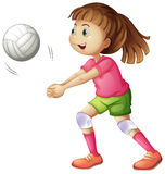 A young volleyball player Royalty Free Stock Photo