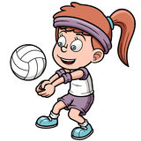 Young volleyball player Royalty Free Stock Images
