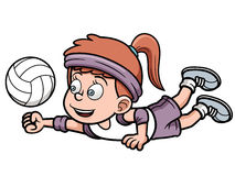Young volleyball player Stock Image