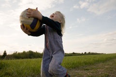 Young volleyballer Stock Image