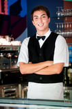 Young Waiter Royalty Free Stock Photography