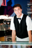 Young Waiter Stock Photography