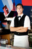 Young Waiter Stock Photo