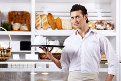 The young waiter Stock Images