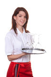 Young waitress Royalty Free Stock Images