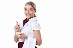 Young waitress Stock Photography
