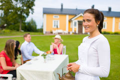 Young waitress Stock Image
