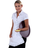 Young waitress Royalty Free Stock Photos