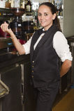 Young waitress in cafe Stock Photos