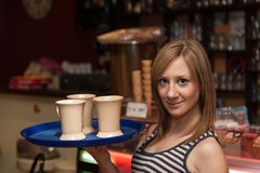 Young Waitress Royalty Free Stock Photos