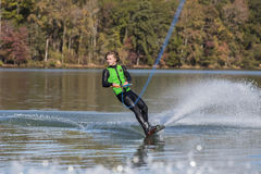 Young Wakeboarder Performing Tricks Stock Image