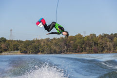 Young Wakeboarder Performing Tricks Royalty Free Stock Photo