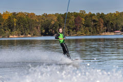 Young Wakeboarder Performing Tricks Royalty Free Stock Image