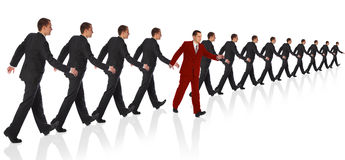 Young walking businessman royalty free stock photo