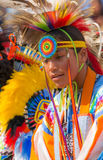 Native American Portrait. Young warrior and dancer at Powwow in Houston, TX Stock Image
