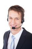 Young Wearing Headset Isolated stock photos